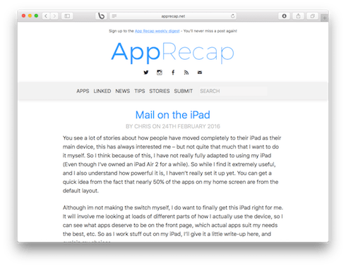 AppRecap Screenshot