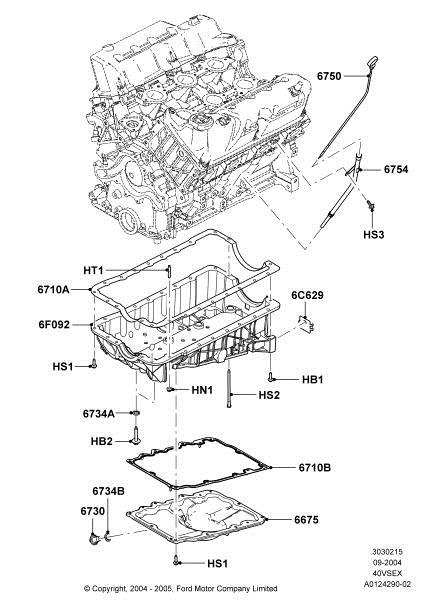 Mustang V6: When replacing the oil pump due to a broken engine