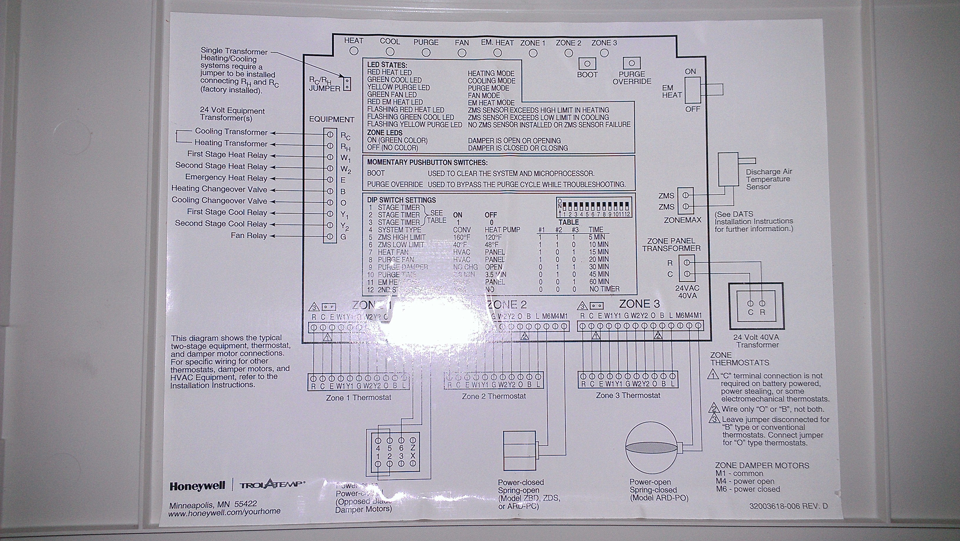 honeywell zoning wiring diagram 4 way t8411r 1077 2 get free image about