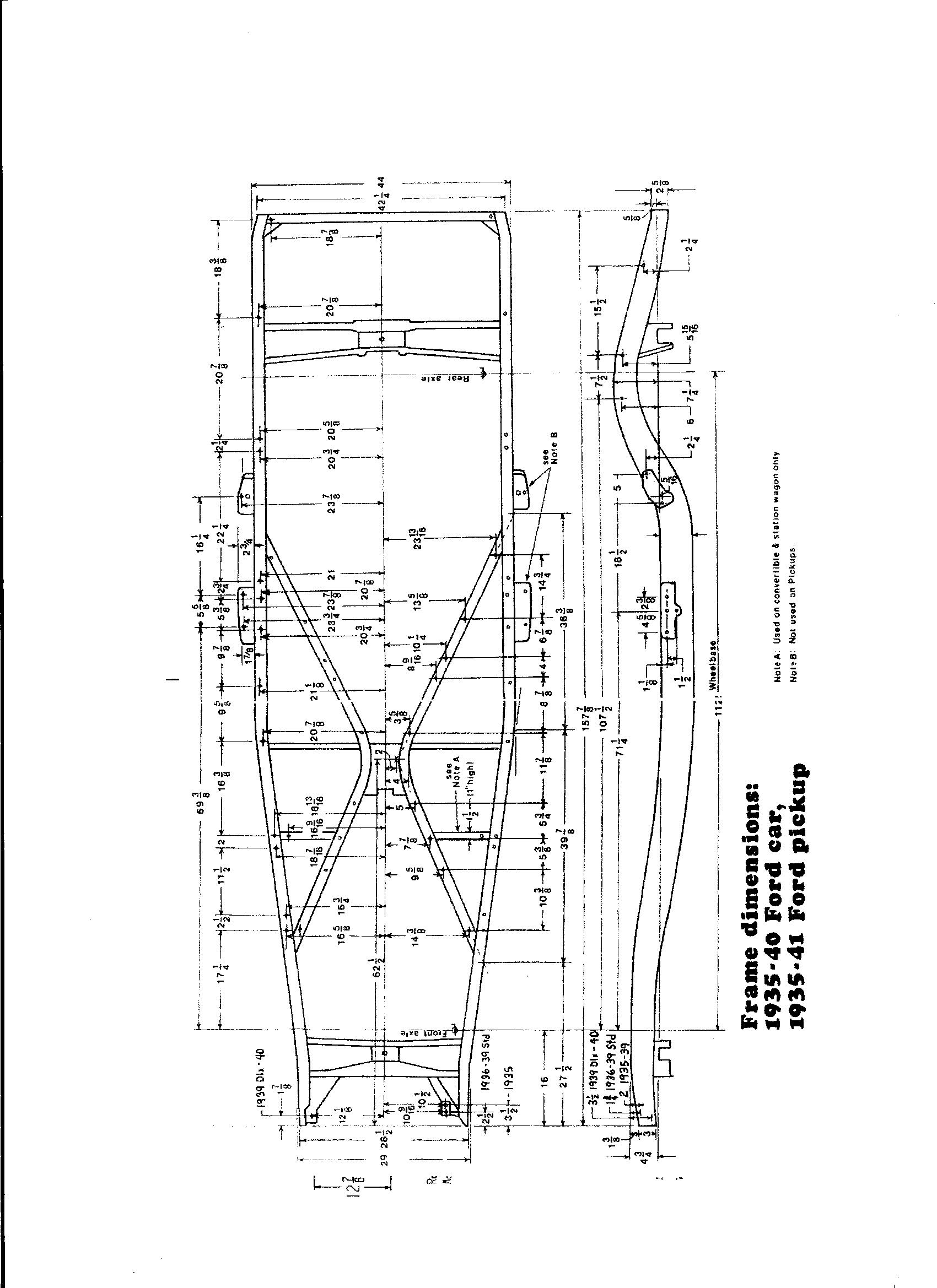 Ford Frame Measurements