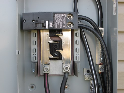 small resolution of how to run power from 200 amp service disconnect to 100 amp 200 amp service panel wiring diagram