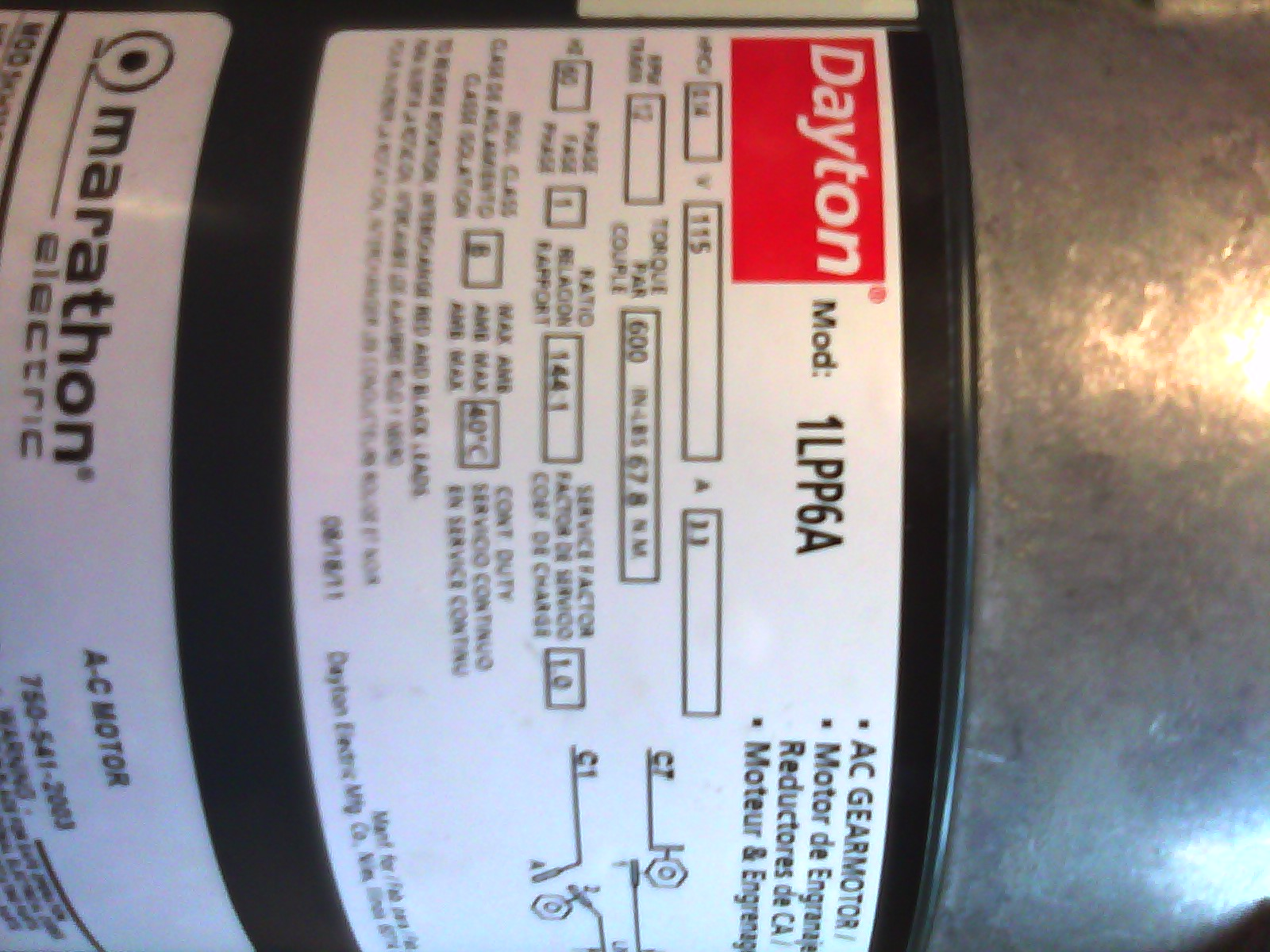 dayton gear motor wiring diagram for downlights with transformers we just bought a to replace on our