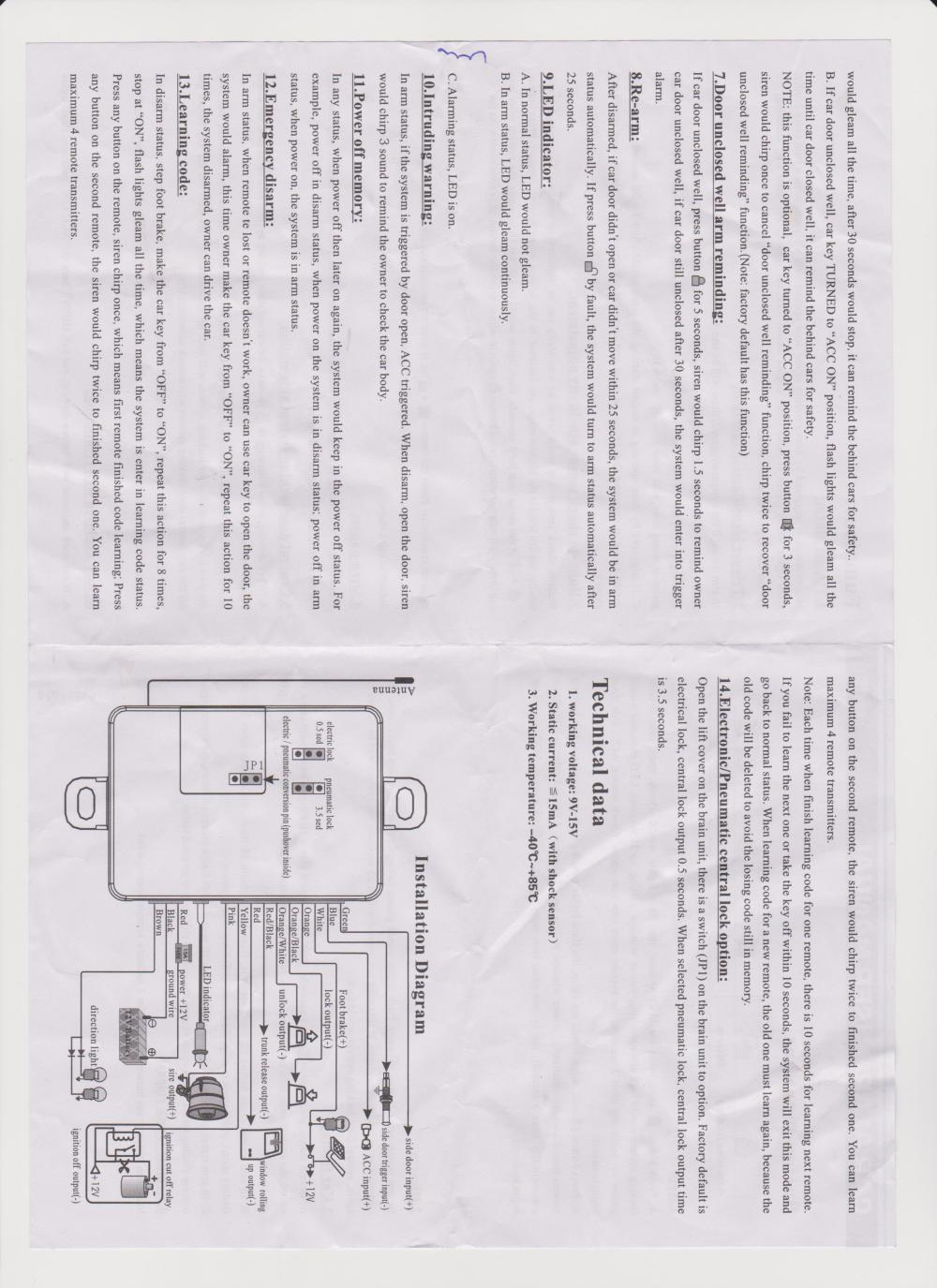 medium resolution of car security installation diagram