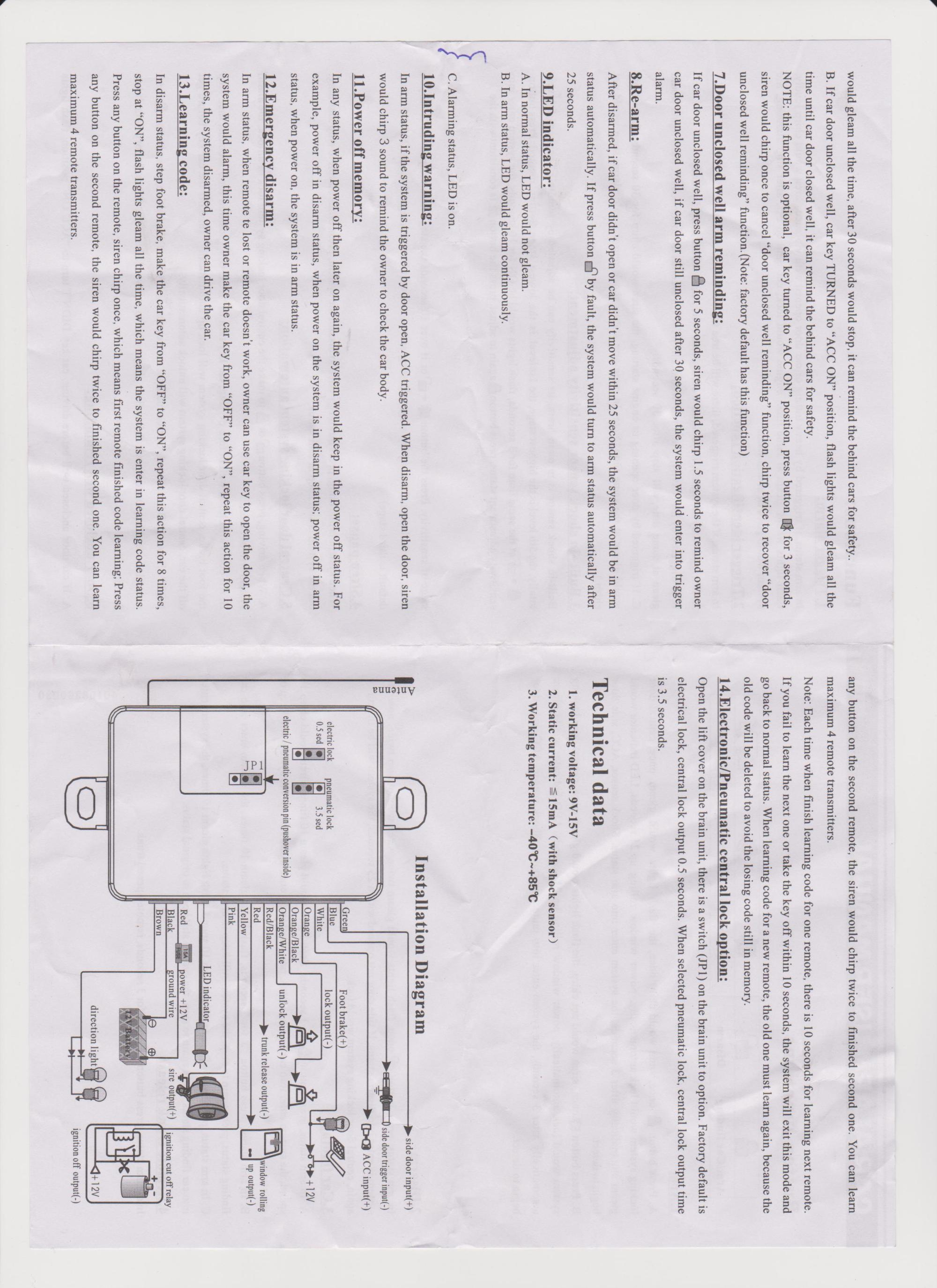 hight resolution of car security installation diagram