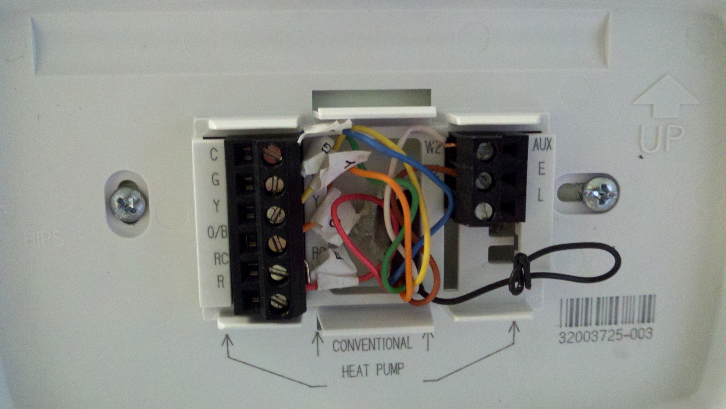 honeywell thermostat wiring diagram rth2510 origami motorcycle i just replaced a jantrol hpt18 60 with rth7500
