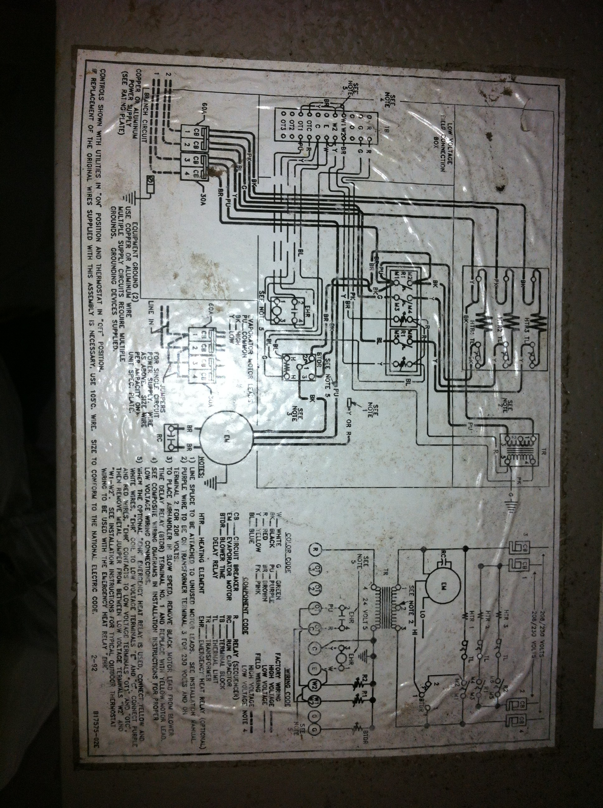 goodman electric heat wiring diagram apexi avcr boost controller my janitrol a36 15 air handler continues to run in