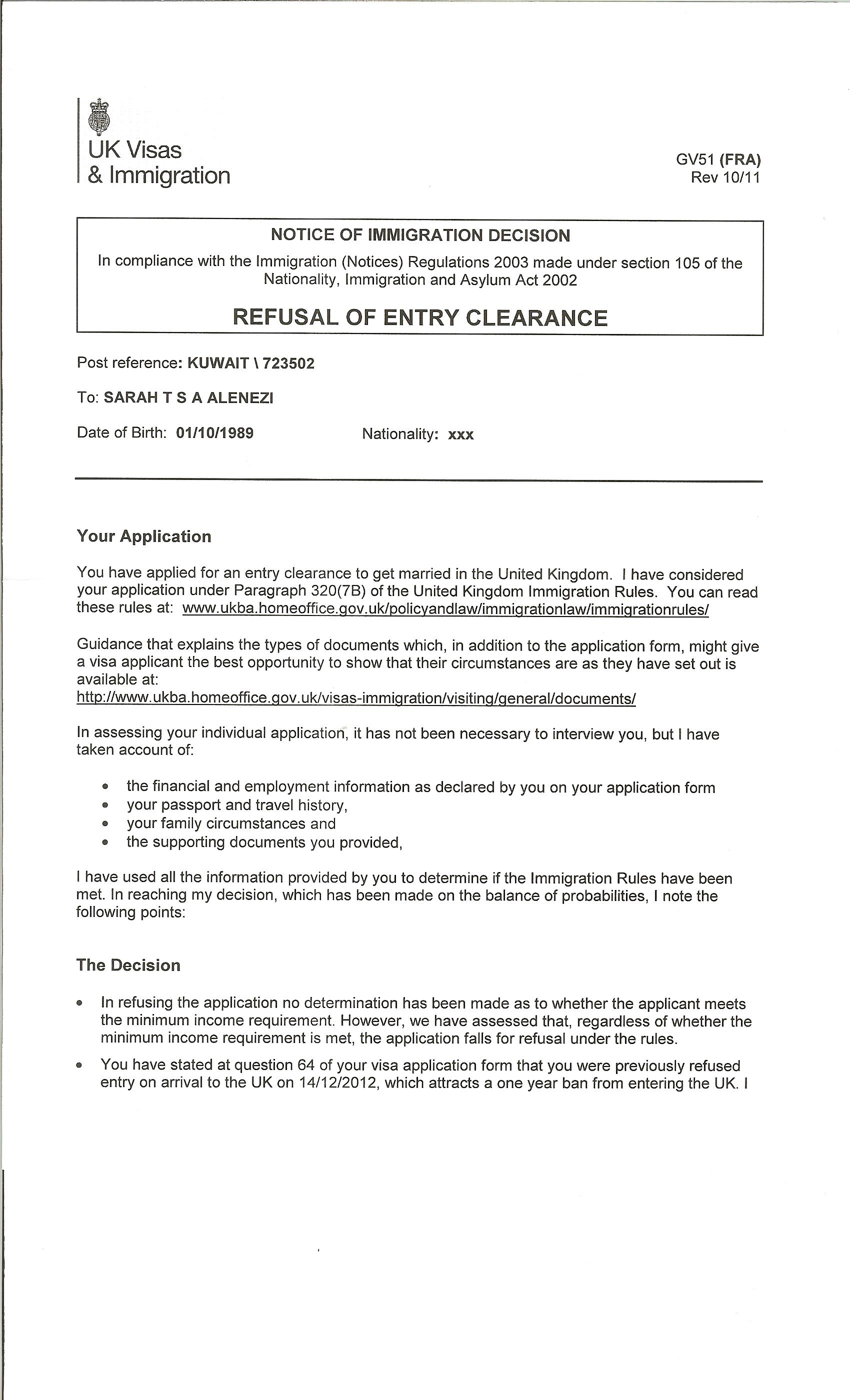 Employment Confirmation Letter Uk Visa