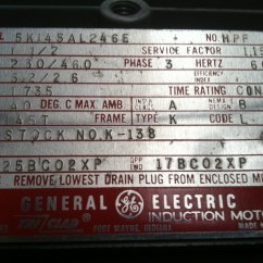 General Electric Single Phase Motor Wiring Diagram 2002 Chevy Tahoe Radio I Purchased A Ge On Ebay And It Has Come With No