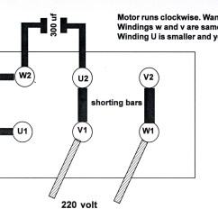 6 Lead Single Phase Motor Wiring Diagram Alternator I Have A Yl100-2 220 Motor. It Is Currently Set To Run Clockwise.