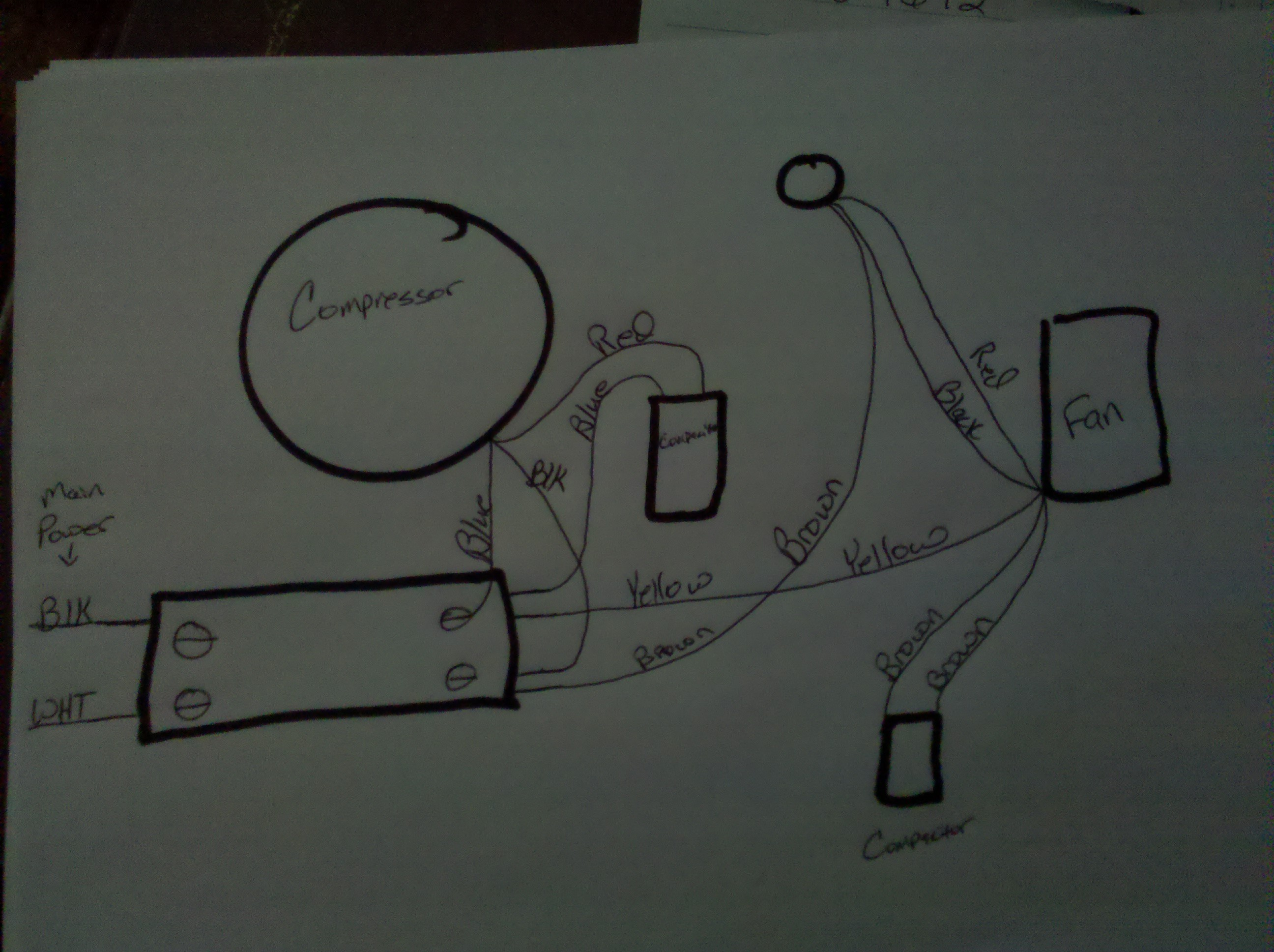 central air wiring diagram alpine ktp i had to get a new fan motor for my magic chef