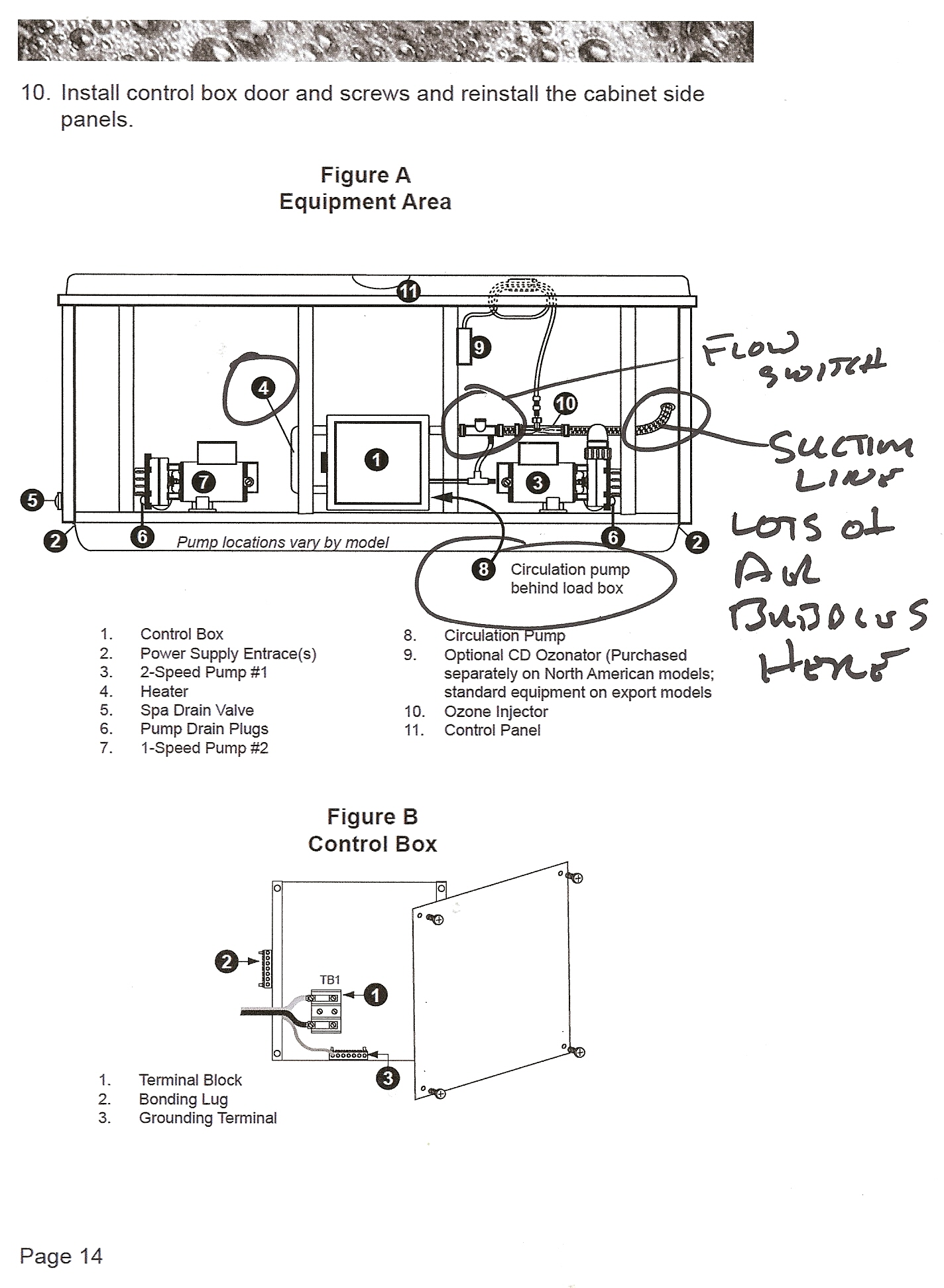 spa control panel wiring diagram