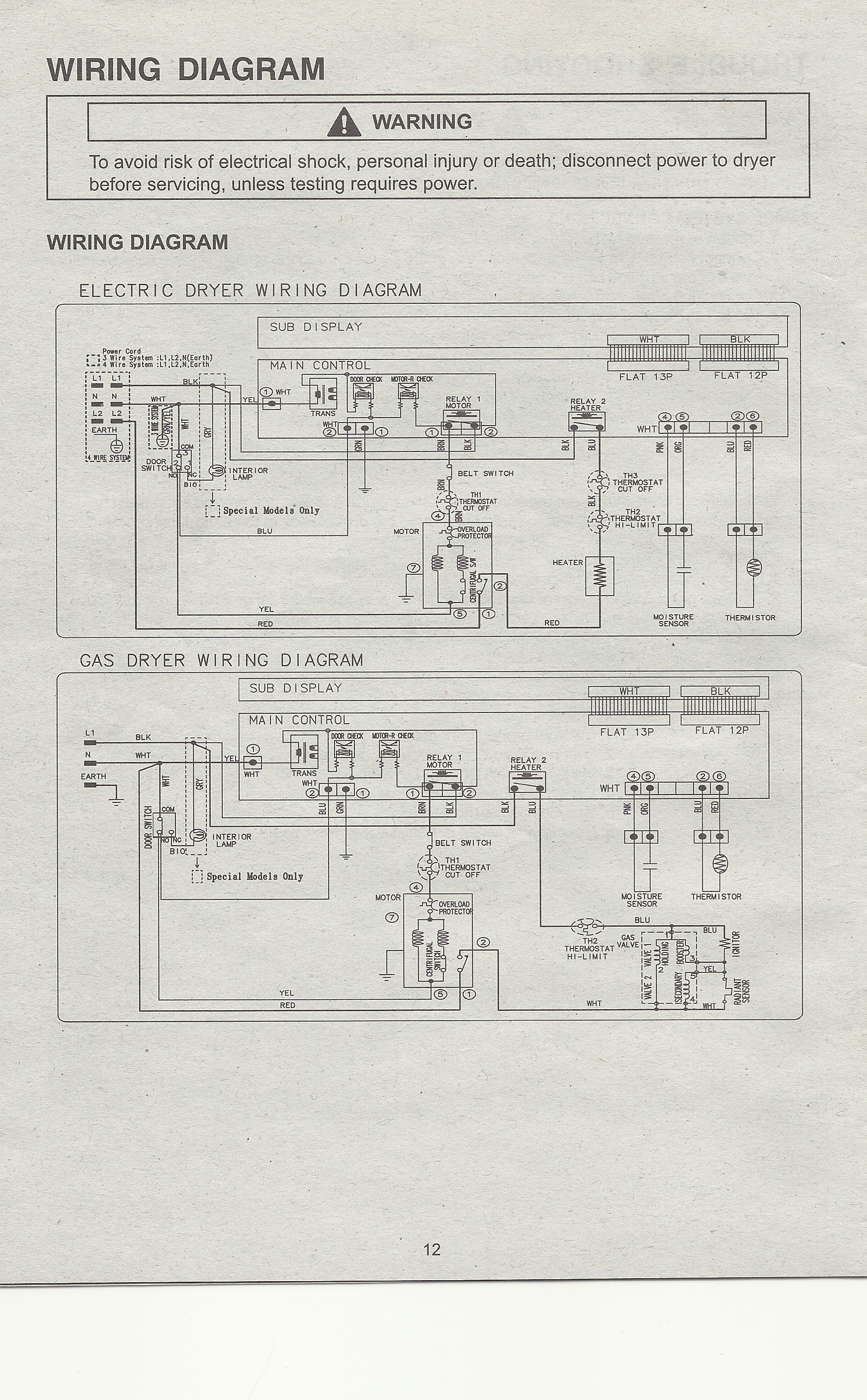 electric dryer wiring diagram fuse symbol 4 wire plug  help needed readingrat