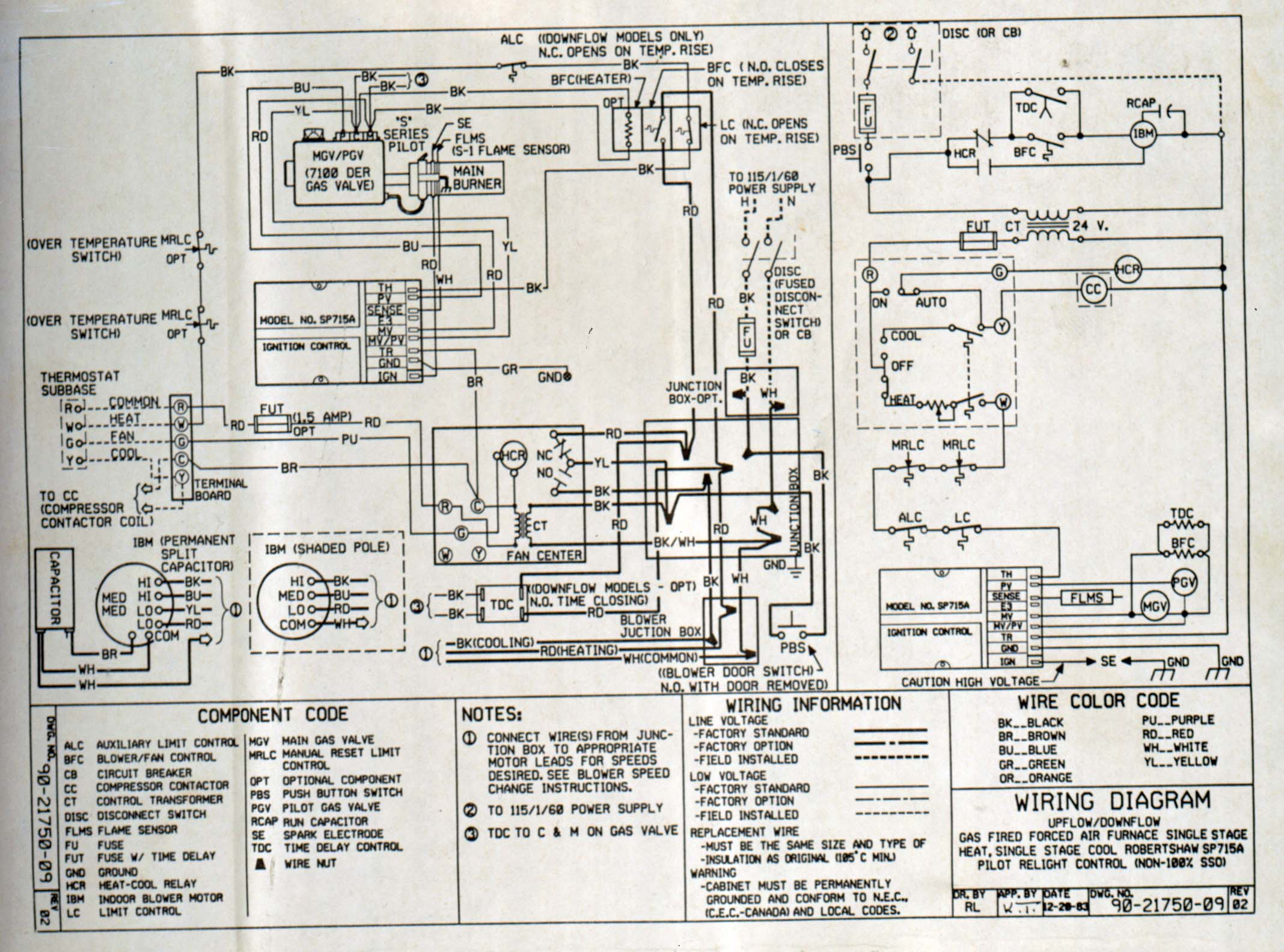 bryant thermostat wiring diagram century ac motor trane gas furnace parts