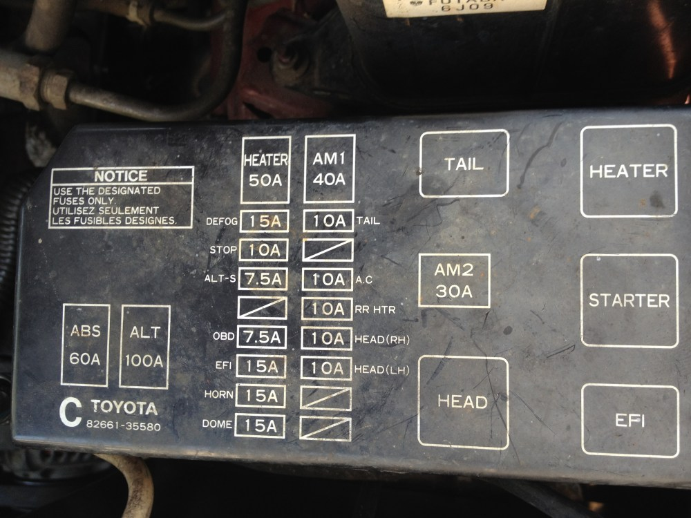 medium resolution of 1995 toyota 4runner fuse diagram wiring diagram details95 toyota pickup fuse box diagram wiring diagram 1995