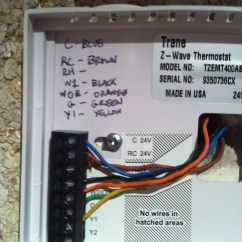 4 Wire Z Wave Thermostat Way Wiring Diagram Replacing A Simple Comfort 2200 With Trane T Stat