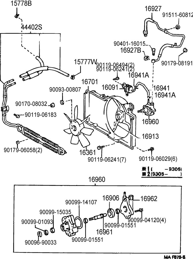 1994 Lexus Es300 Thermostat Housing Diagram, 1994, Free