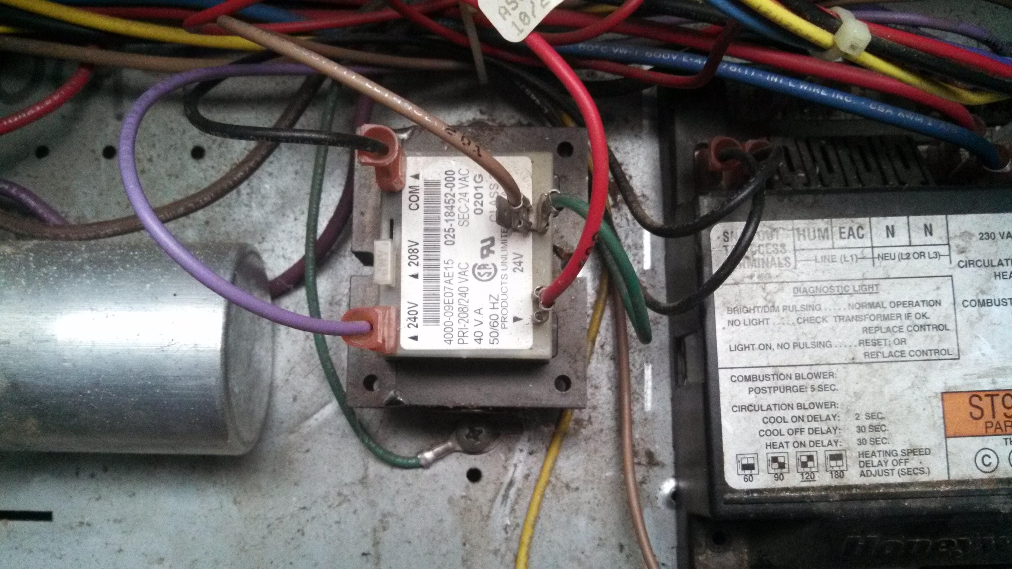 Trane Gas Wiring As Well As Furnace Transformer Wiring Diagram In