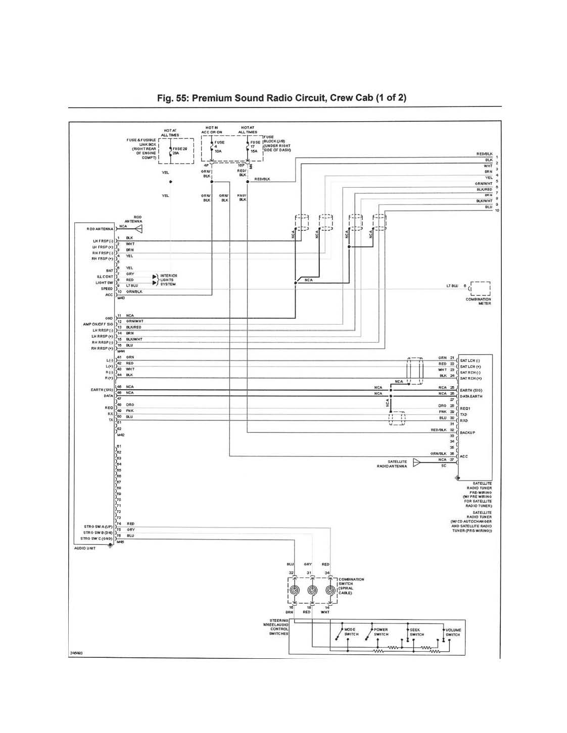 2002 nissan frontier stereo wiring diagram for marine ignition switch 2000 radio