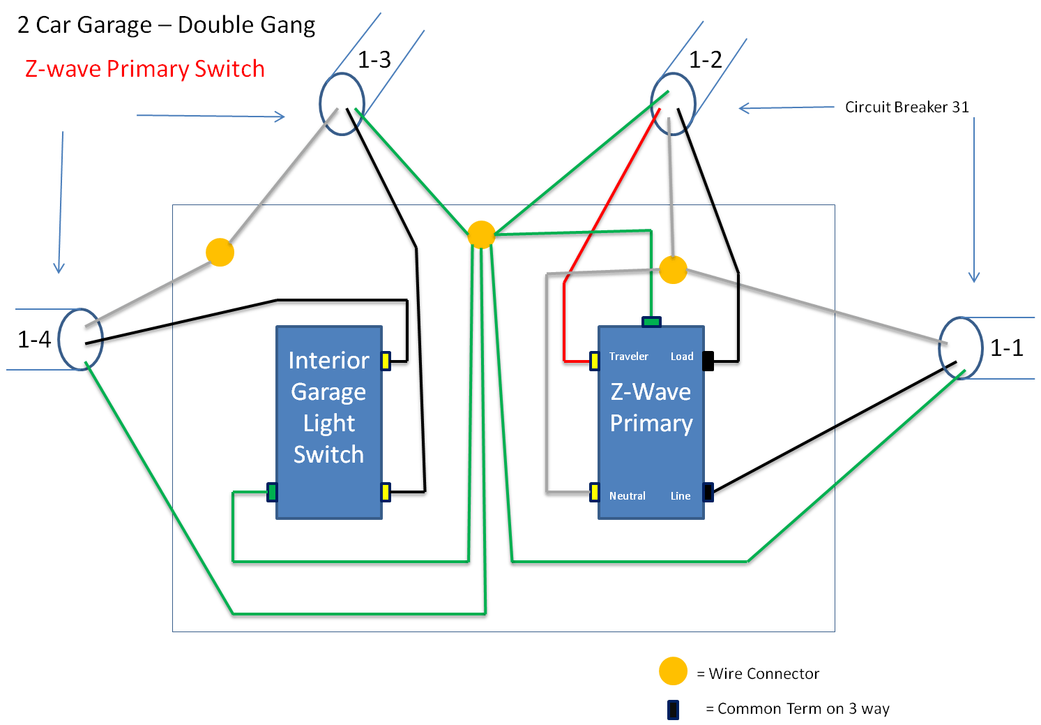 3 way switch diagram 2 lights 2003 dodge neon stereo wiring trying to wire in a ge 45614 z wave light kit