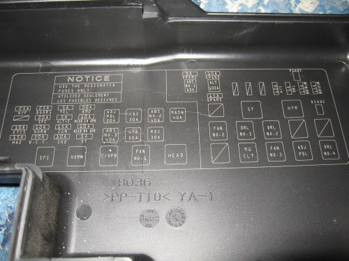 small resolution of 2008 sienna fuse box diagram
