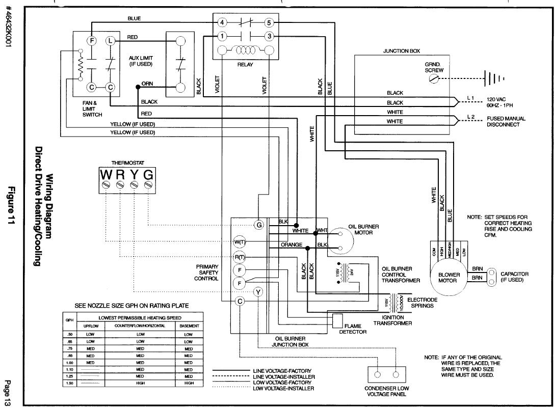 honeywell thermostat 7500 wire diagram