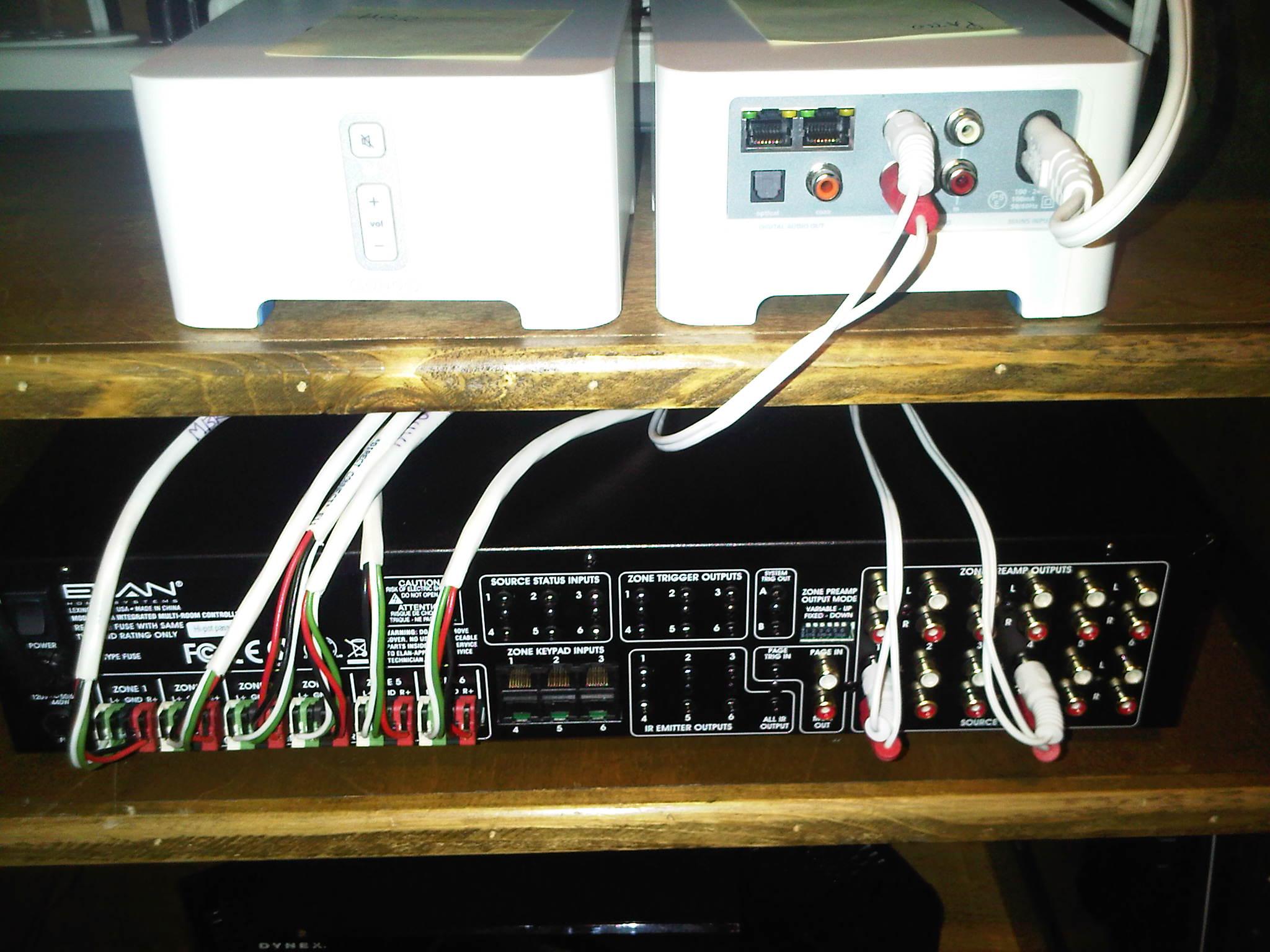 sonos connect wiring diagram 7 way blade how do you program an elan s66a multi room controller i want
