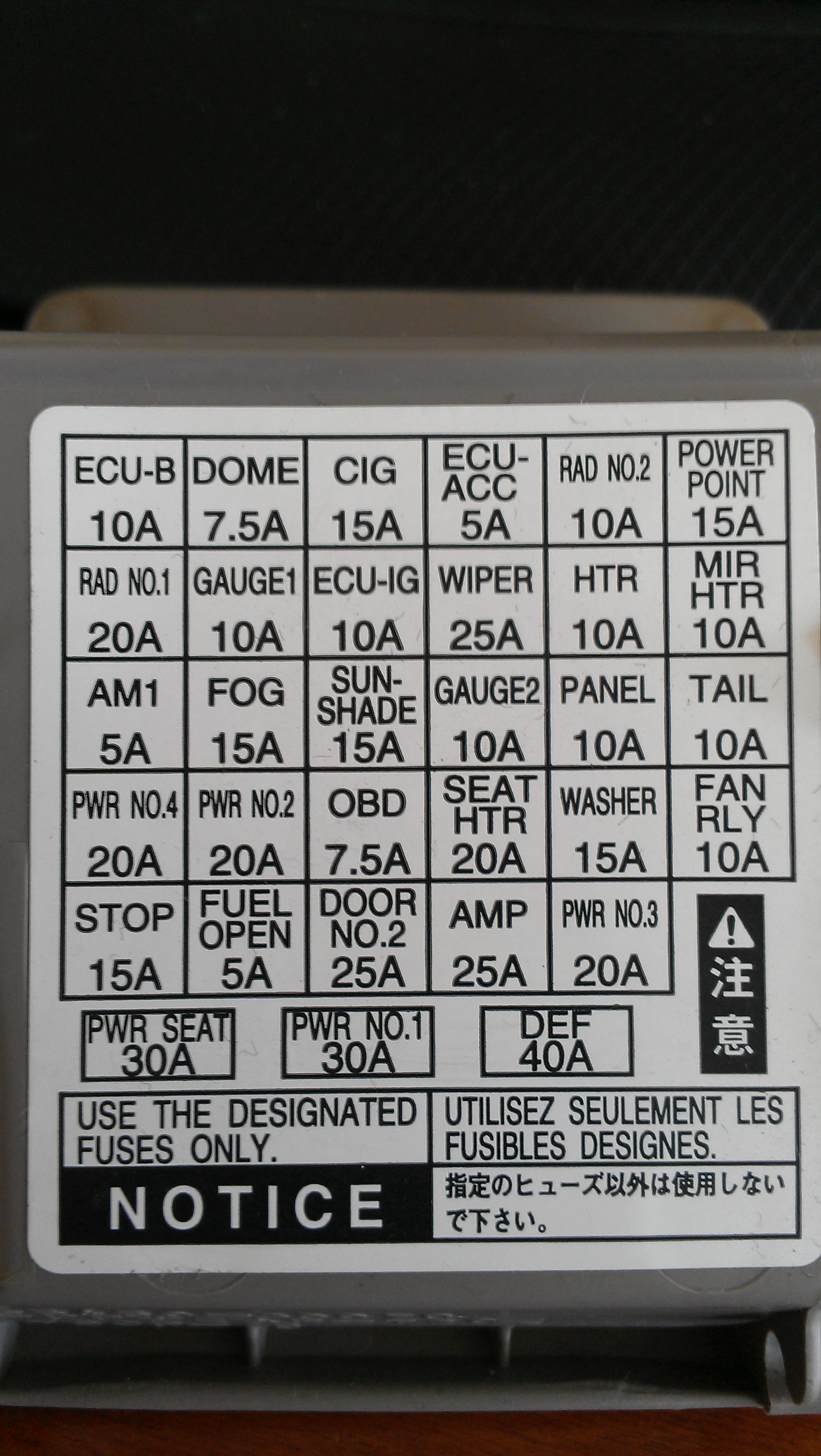 hight resolution of fuse box on lexus rx400h simple wiring schema kenworth fuse box location lexus 400h fuse box location