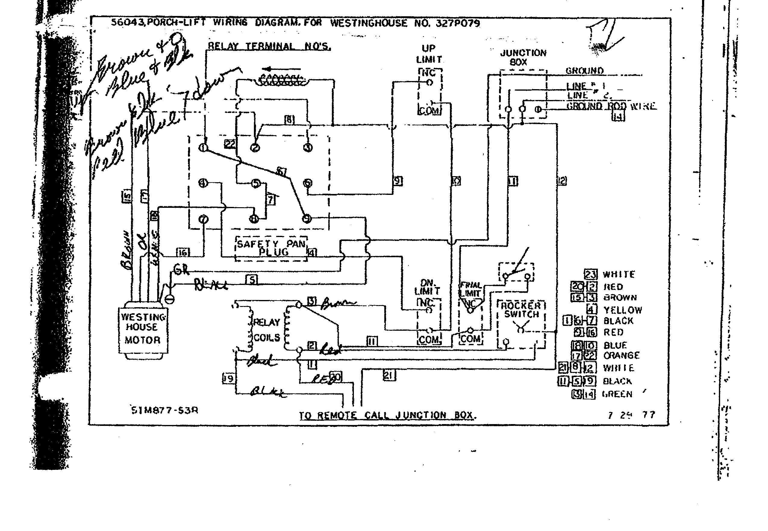 Who / Where can I get help with Westinghouse motor wiring