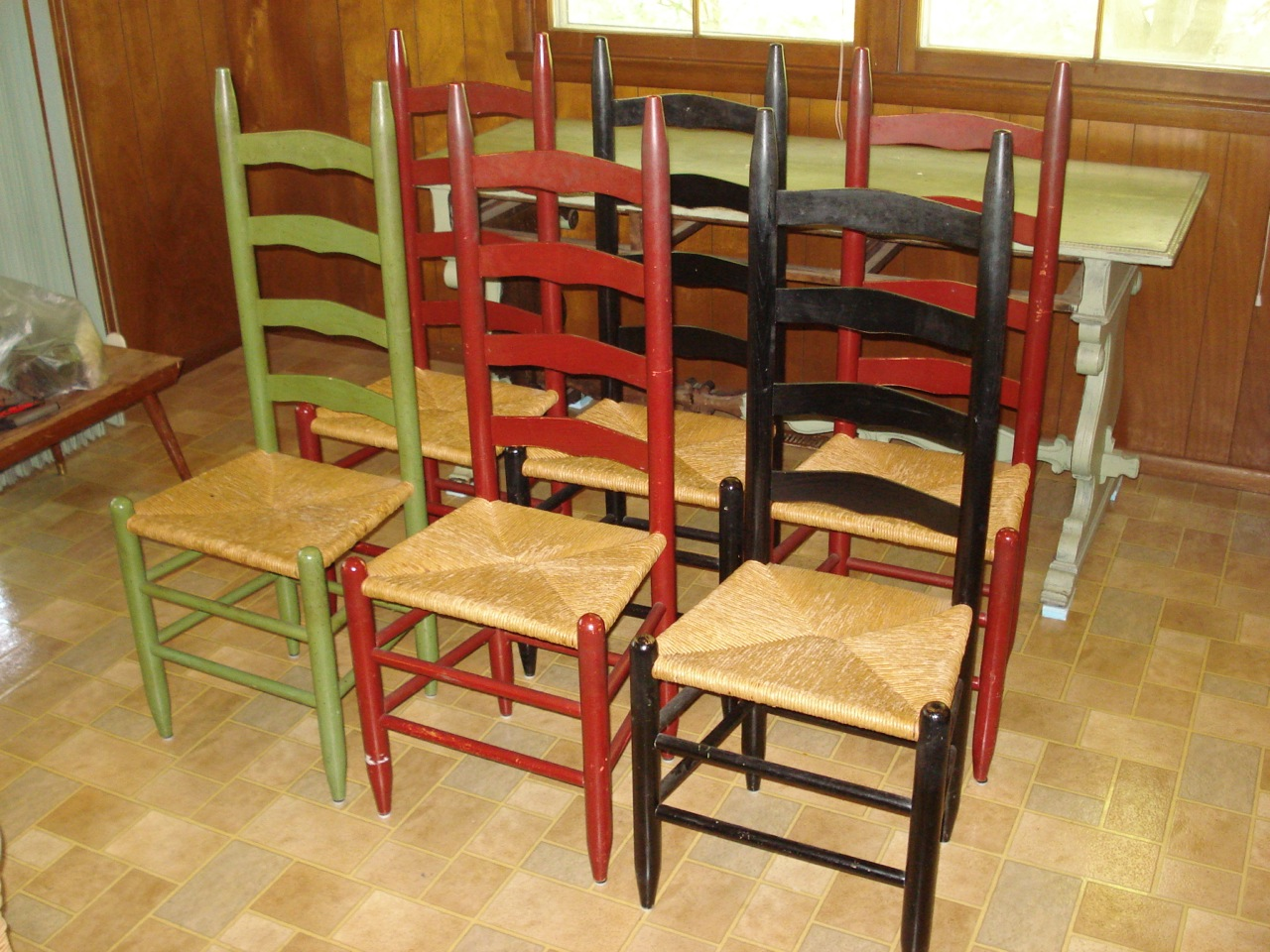antique ladder back chairs value armless dining heres another item to be valued a set of six shaker style
