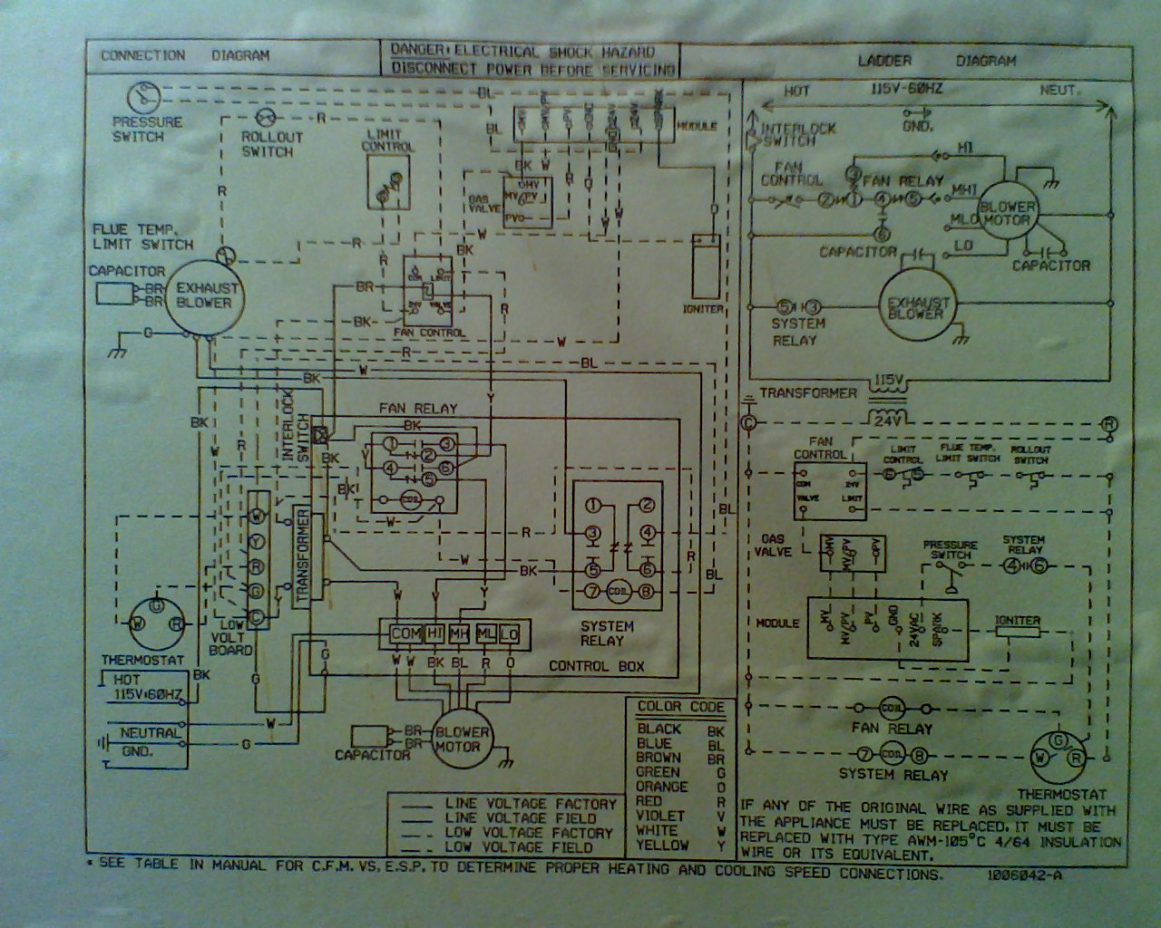 tempstar furnace wiring diagram kubota starter solenoid i have a 7000 high efficiency when the
