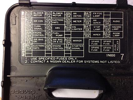 2008 Infiniti Wiring Diagrams Fusible Radio Nissan Micra