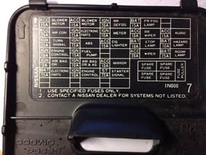 Fusible radio nissan micra