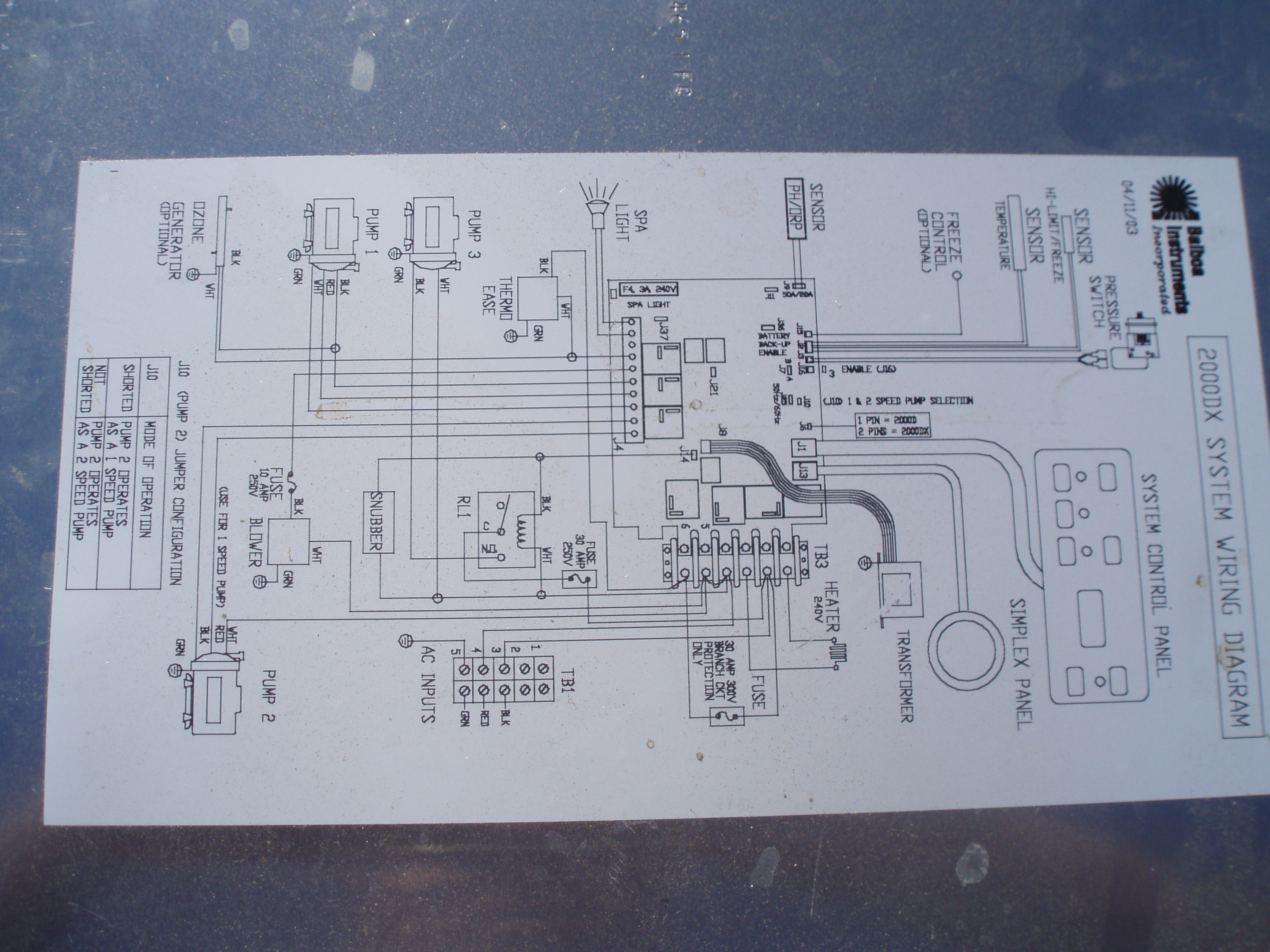 spa pump wiring diagram carrier infinity thermostat hi i have a thermospa 2000d the pumps are running
