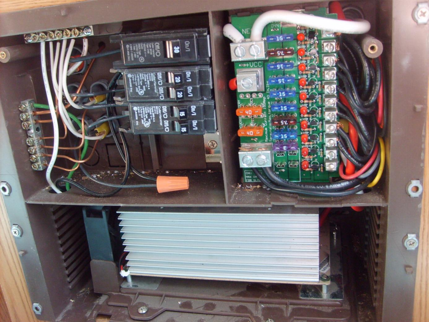 12v circuit breaker wiring diagram rv slide trailer 120v works all lights etc but disconnect and