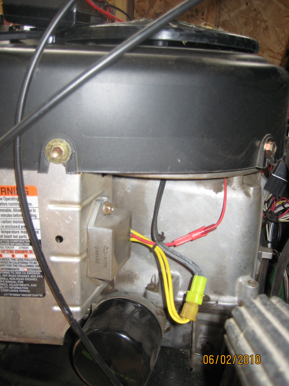 John Deere 6 Volt Wiring Diagram Have A John Deere L111 Riding Mower With A Briggs Amp Stratton