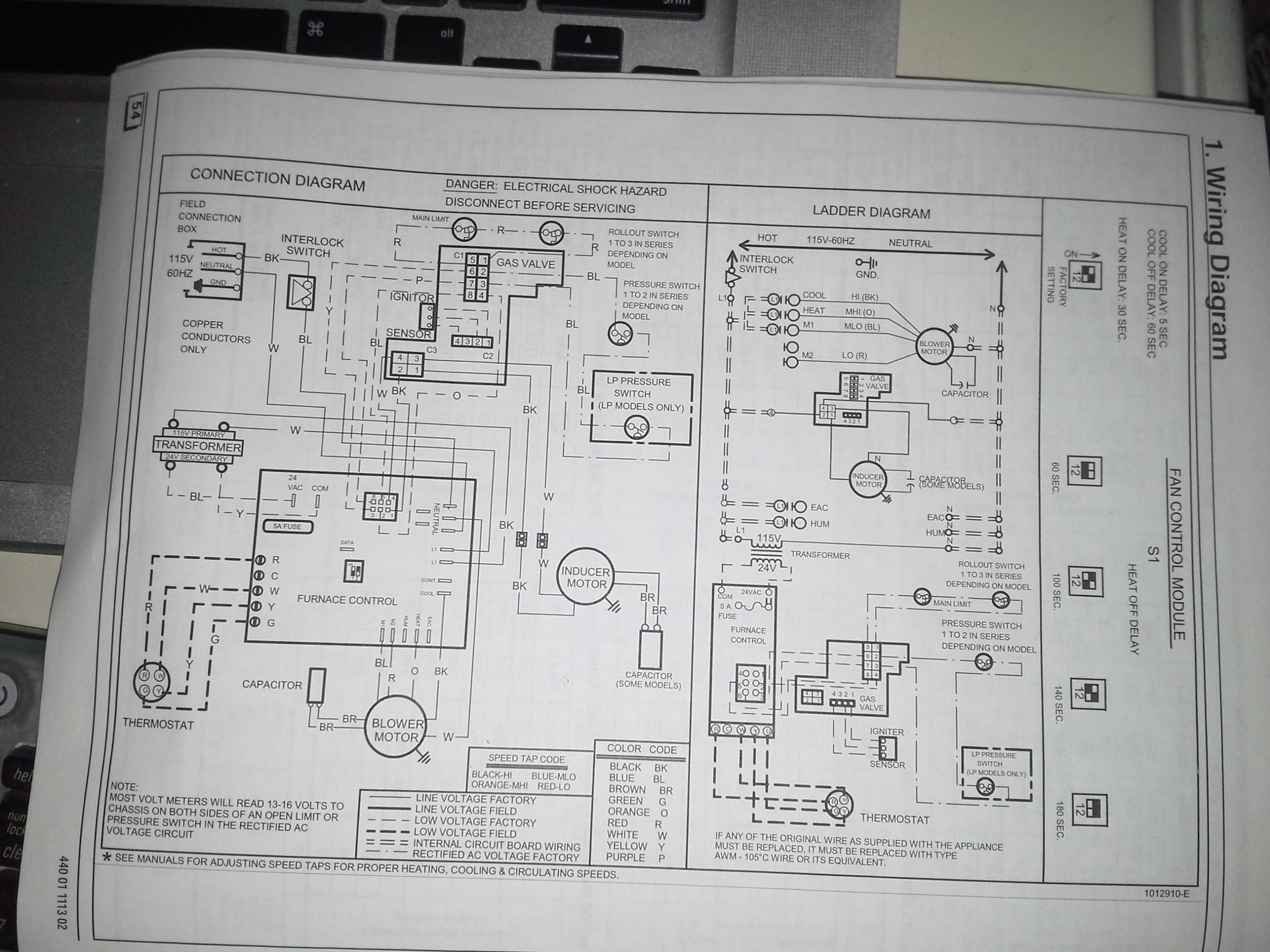 Gas Furnace Schematic