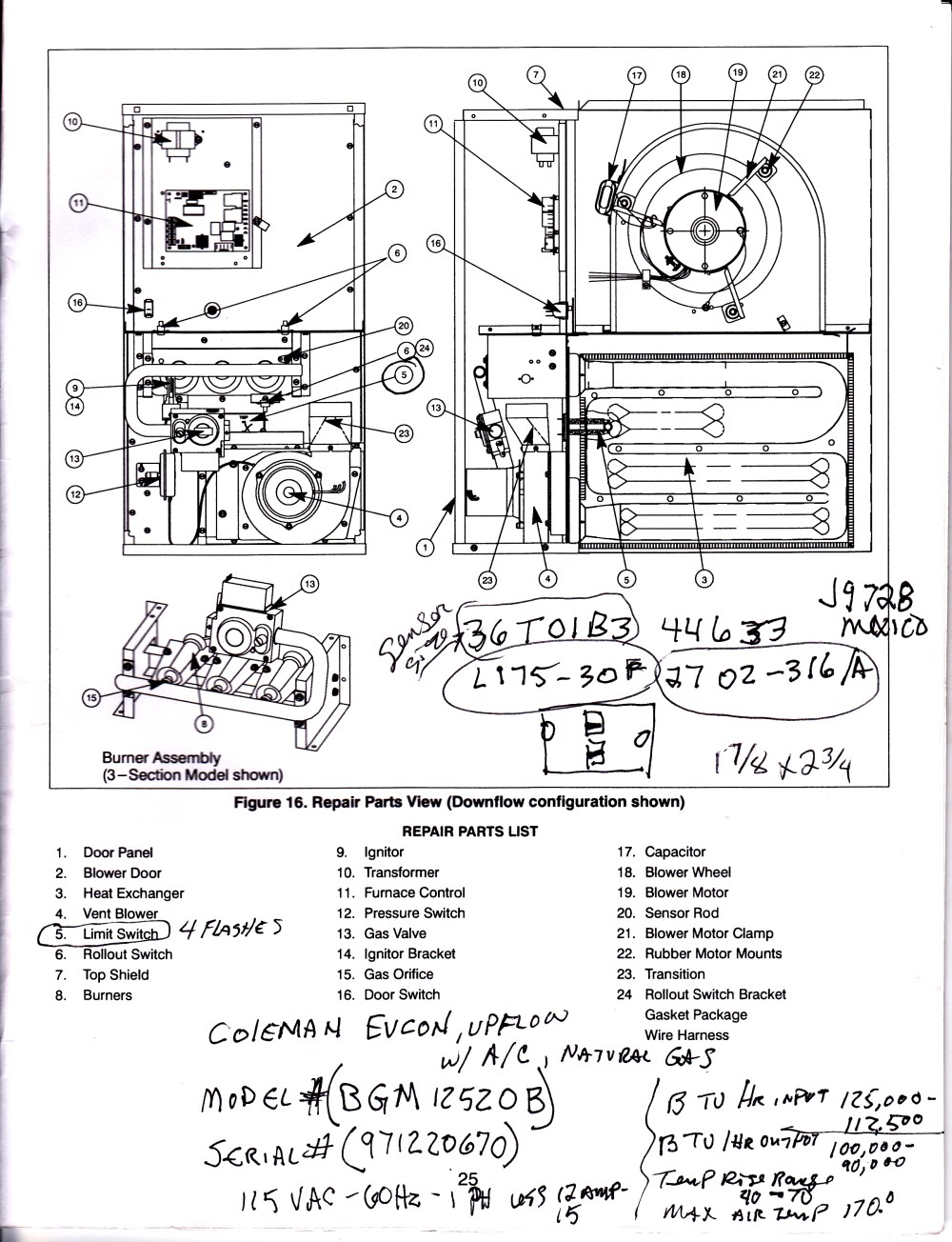 medium resolution of coleman 7975 furnace wiring diagram coleman free engine coleman eb15b electric furnace diagram coleman electric furnace