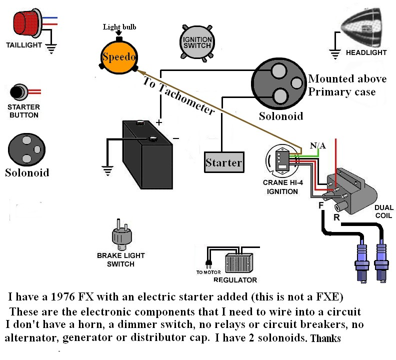 2003 harley davidson sportster wiring diagram australian box trailer i am trying to wire my 1976 fx, with an electric ignition
