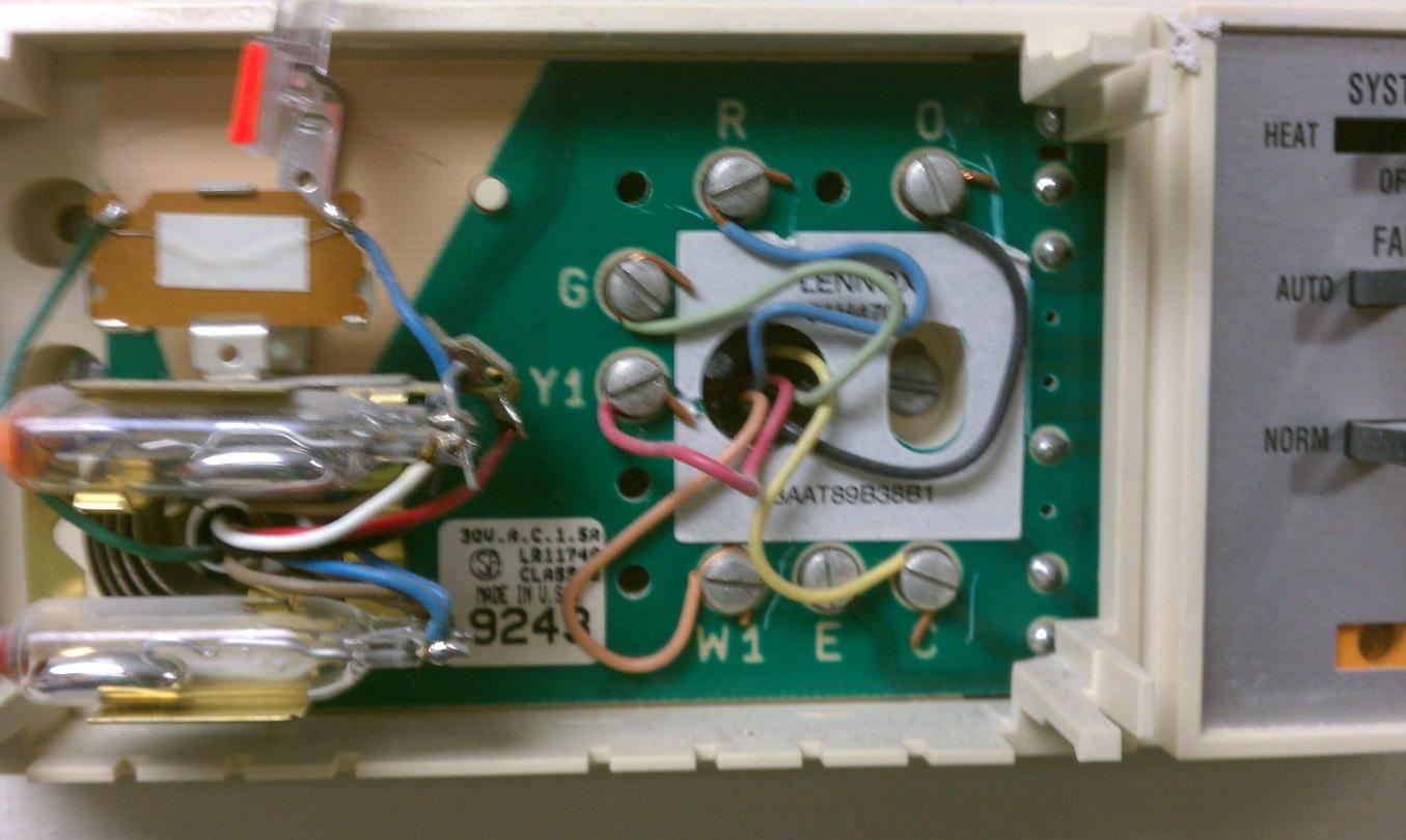 Old Lennox Heat Pump Thermostat Wiring