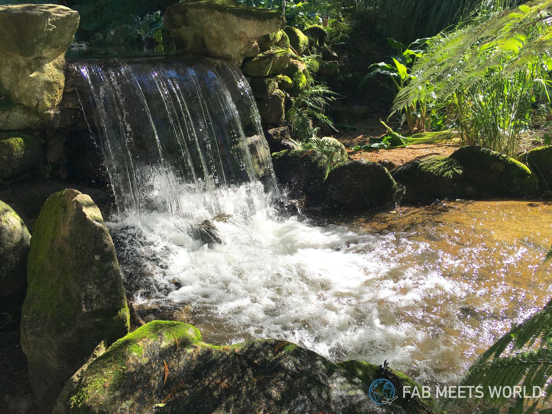 The Monserrate gardens are full of beautiful waterfalls like this