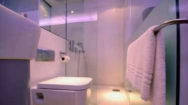The en-suite bathroom in the Premium cabin