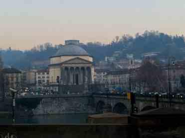 Turin Italy: Chiesa della Gran Madre di Dio outside