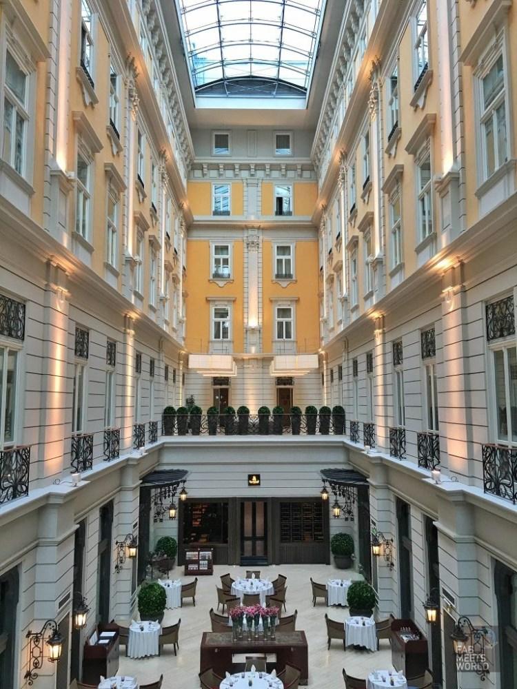 Atrium in Corinthia Hotel Budapest