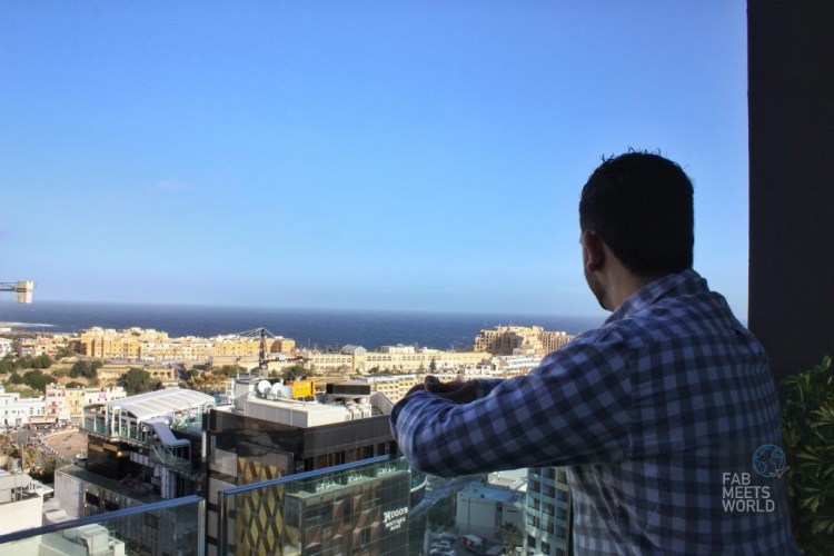 Intercontinental Malta Hotel Highline Suite balcony seaview