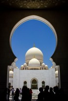 Framing the Sheikh Zayed Grand Mosque in Abu Dhabi