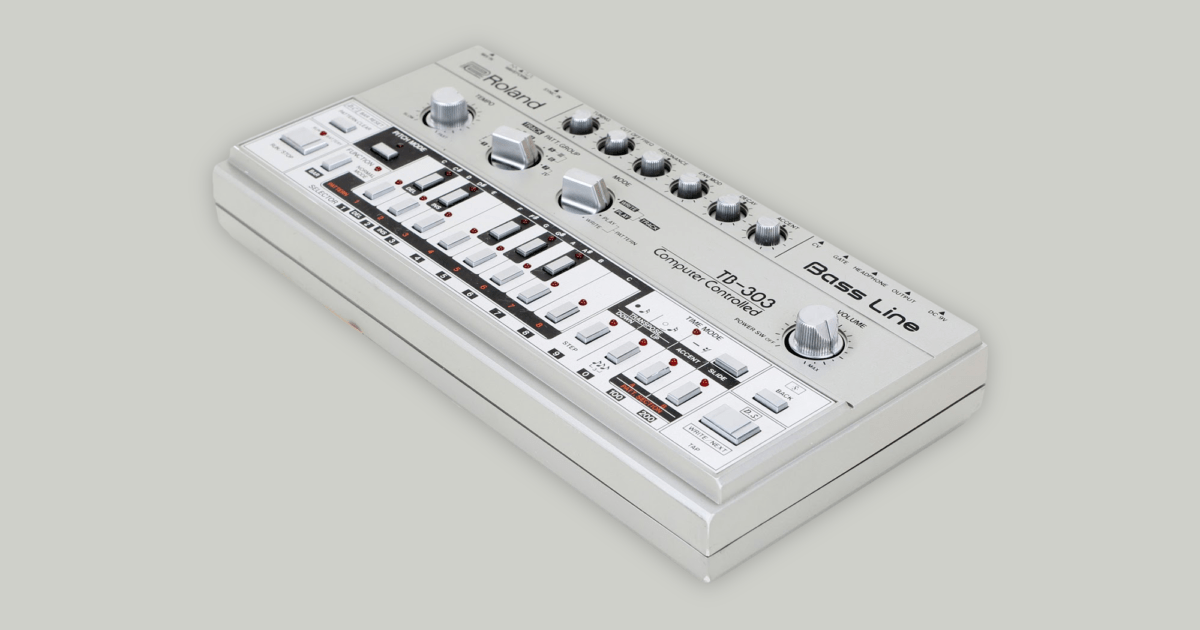 Listen to an exclusive playlist of Roland TB-303 classics