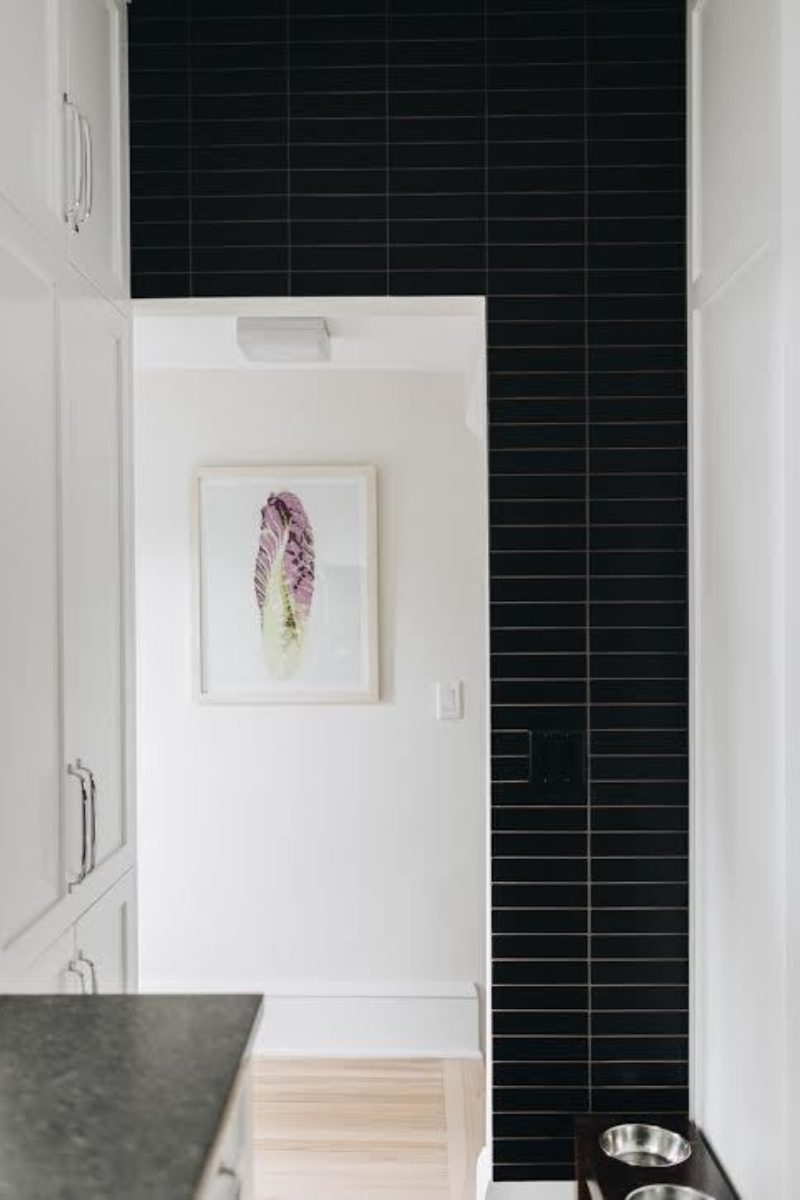 Matte Black Kitchen Backsplash  Fireclay Tile