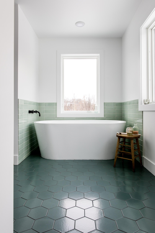 stepping up your bathroom floor tiles