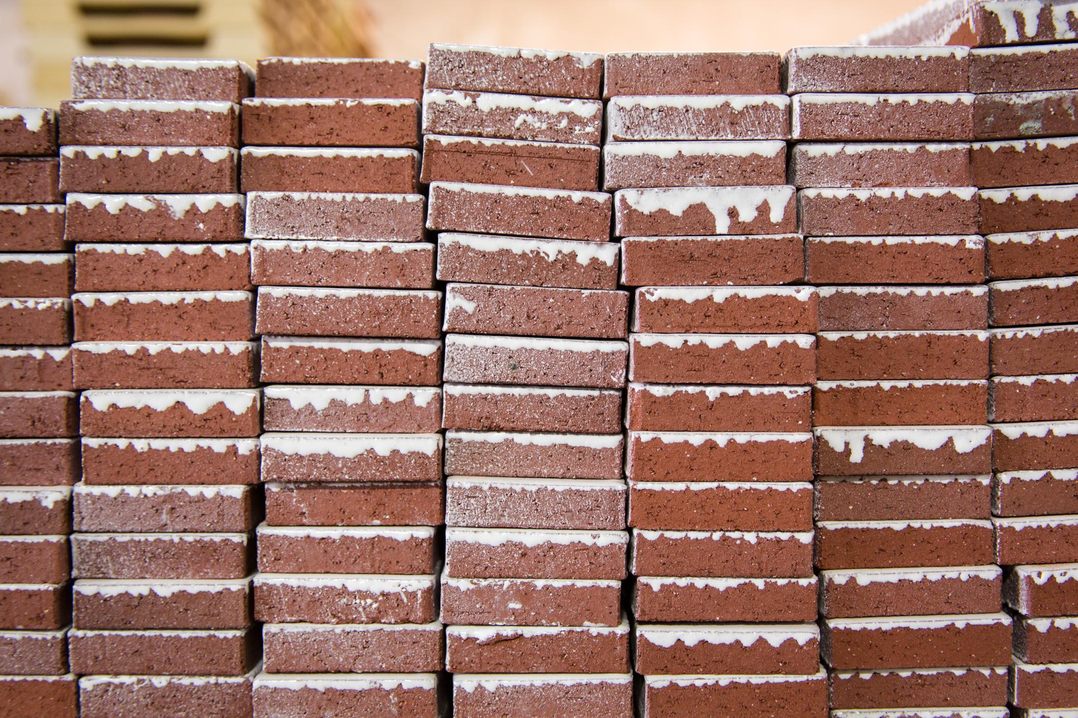 glazed thin brick fireclay tile