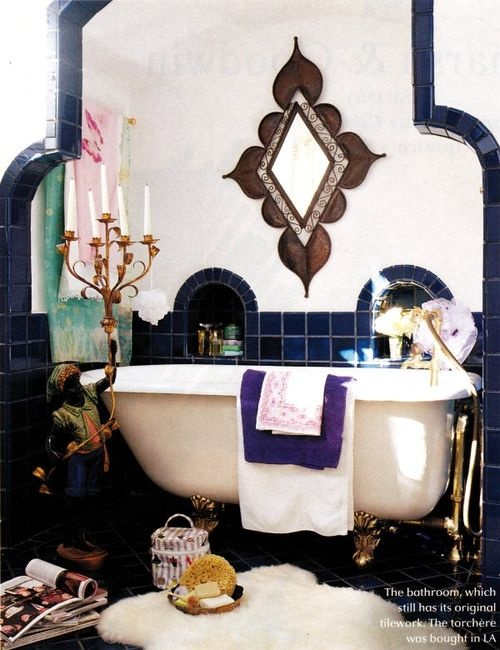 a moroccan bathroom
